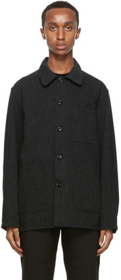 Needles Black Wool Coverall Jacket