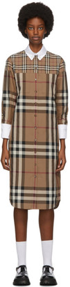 Burberry Beige Check Rosanne Shirt Dress