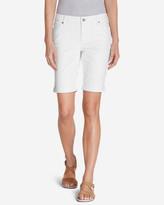 Eddie Bauer Women's Slightly Curvy Denim Bermuda Shorts - White