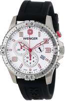 Wenger Men's 77050 Squadron Chrono White Dial Rubber Strap Watch