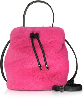 Karl Lagerfeld Paris Carine X Fur Bucket Bag