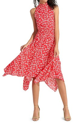 Sam Edelman Floral Blouson Handkerchief Dress