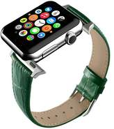 Peugeot Apple Watch Band, Replacement Genuine Leather Strap for iWatch 20mm with Adaper