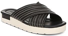 Vince Women's Camden Leather Platform Slide Sandals