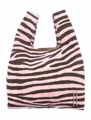 Hayward Animal Print Shopper Tote Pink