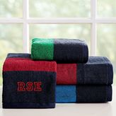 Rugby Stripe Bath Towels, Wash, Navy/Green