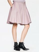 Calvin Klein Platinum Double Weave Pleated Skirt