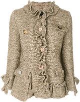 Erika Cavallini buttoned tweed jacket