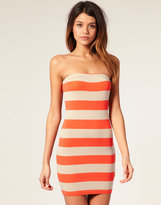 ASOS Wide Stripe Bandeau Body-Conscious Dress