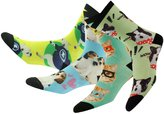 Pattern Design Crew Soft Socks, J'colour Mens' Womens' Unisex Deodorant Antibacterial Fun Funny Digital Print Bamboo Cartoon Socks 1 Pair,Bowknot Cat&Pink