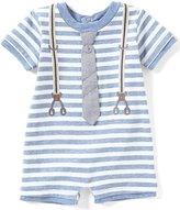 Edgehill Collection Baby Boys Newborn-6 Months Striped Mock-Suspender Tie Shortall