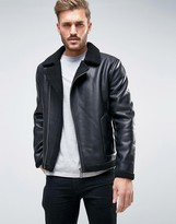 ONLY & SONS Faux Leather Flight Jacket