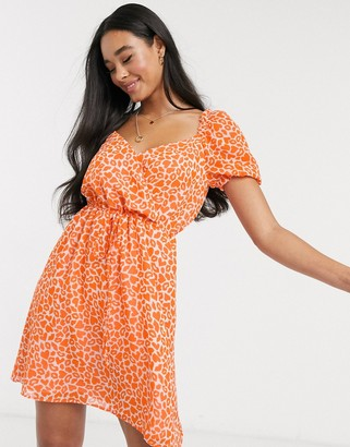 French Connection lips and heart print mini dress