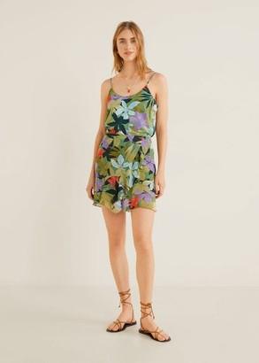 MANGO Tropical print skirt green - XXS - Women