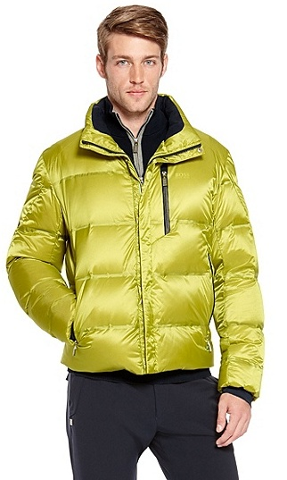HUGO BOSS Jarell Quilted Nylon Down Jacket - Light/Pastel Green