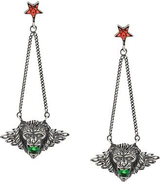 Iosselliani Leo Head Puro earrings