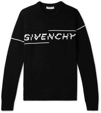 Givenchy Logo-Intarsia Cotton Sweater