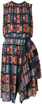 Sacai Floral Pleated sleeveless dress