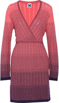 M Missoni Wrap-effect crochet-knit mini dress