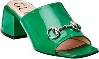 Gucci Horsebit Patent Mule