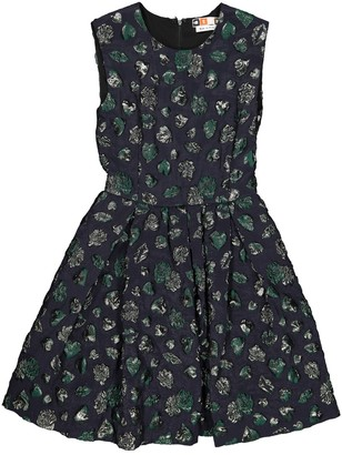 MSGM Navy Silk Dresses