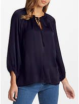 Velvet by Graham & Spencer Rana Satin Blouse, Night