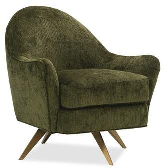 Caracole Classic Active Swivel Armchair Caracole Classic Body Fabric: Fog Flannel, Leg Color: Antique Brass