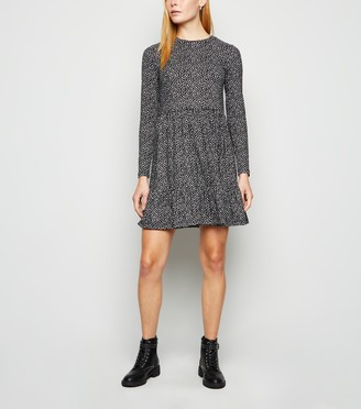 New Look Floral Long Sleeve Smock Dress