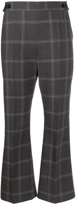 Marni Checkered Cropped Flared Trousers
