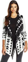 Vero Moda Women's Sui Long Sleeve Printed Drapey Cardigan Sweater