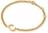 Yossi Harari Mini C Letter Bracelet in 18K Gold