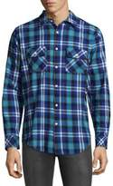 Standard Issue NYC Plaid Cotton Button-Down Shirt