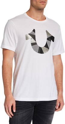True Religion Men's Cut-Up Horseshoe Graphic T-Shirt