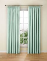 Marks and Spencer Faux Silk Black Out Pencil Pleat Curtain
