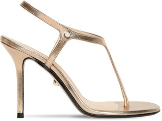 Alevì 90mm Metallic Leather Thong Sandals