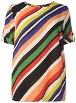 Dorothy Perkins DP Curve Multi Stripe Soft T-Shirt