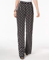 MICHAEL Michael Kors Polka-Dot Pleated Wide-Leg Pants