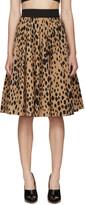 Fausto Puglisi Black Animal Print Pleated Skirt