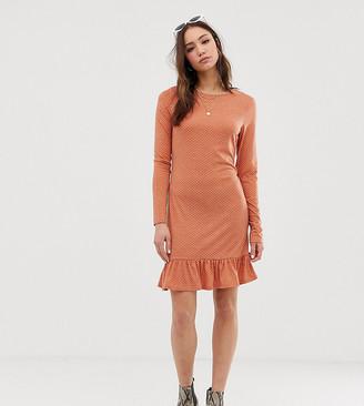 Glamorous Tall long sleeve dress in mini spot