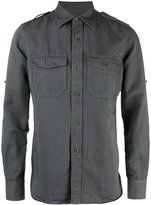 Tom Ford chest pocket shirt - men - Cotton/Linen/Flax - 40
