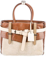 Reed Krakoff Shearling-Trimmed Boxer Bag
