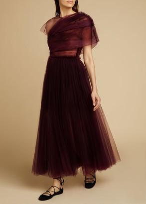 KHAITE The Gigi Dress in Bordeaux