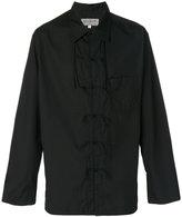 Yohji Yamamoto tied placket shirt - men - Cotton - 3