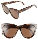 Le Specs Women's 'Liar Liar' 57Mm Sunglasses - Volcanic Tortoise