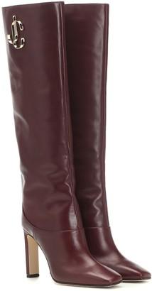Jimmy Choo Mahesa 100 leather boots