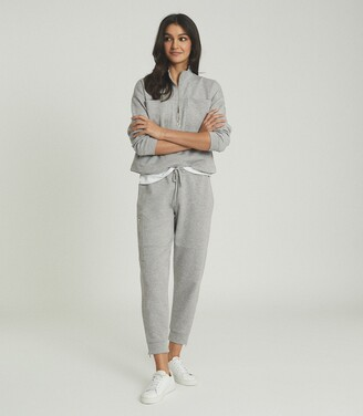 Reiss Angelina - Jersey Joggers in Grey Marl