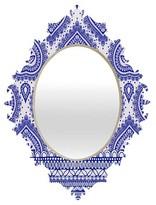 DENY Designs Decorative Blue Baroque Mirror