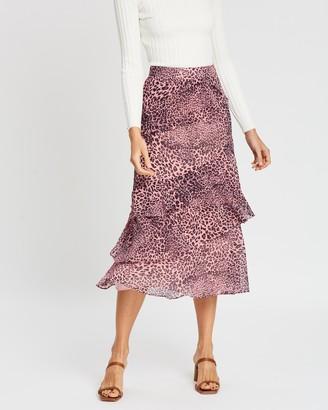 Whistles Wild Cat Print Skirt