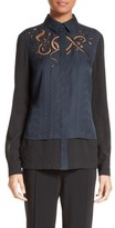 Yigal Azrouel Women's Embroidered Silk Jacquard Blouse
