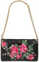 Dolce & Gabbana Micro Roses Printed Faux Leather Clutch
